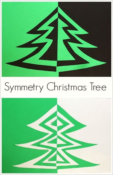 symmetry christmas tree art project for kids christmas