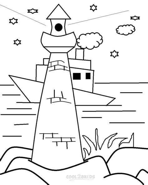 lighthouse printable free coloring pages of how to draw a lighthouse