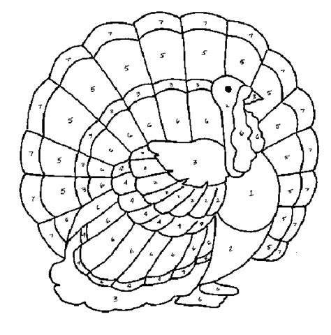 turkey coloring page color by number make your own color code thanksgiving turkey to pages