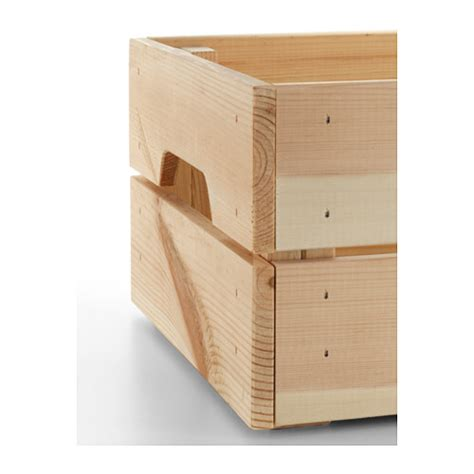 ikea crate ikea knagglig wooden pine storage box crate ideal for bottles cans 23x31cm b787 ebay