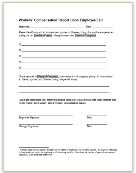 Employee Loan Clearance Letter Sle Workers Compensation Exemption Letter 11 Sle Workers Compensation Forms Sle Forms Best Photos
