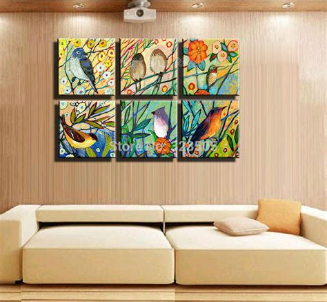 wall decoration paintings 6 muti panel canvas wall abstract tree