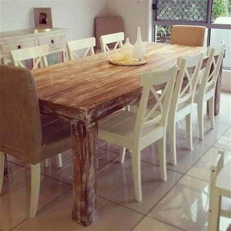 custom built dining room tables diy custom built pallet dining table ideas