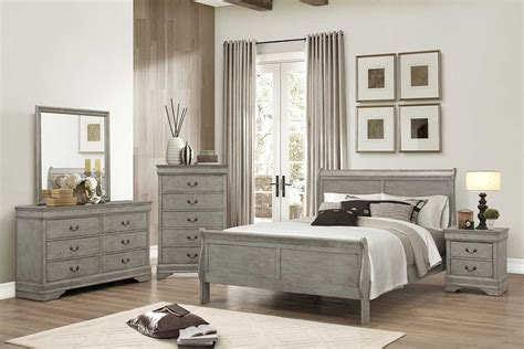 Gray Bedroom Set   The Furniture Shack   Discount