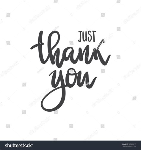 just for you card template vector phrase just thank you handwritten stock vector