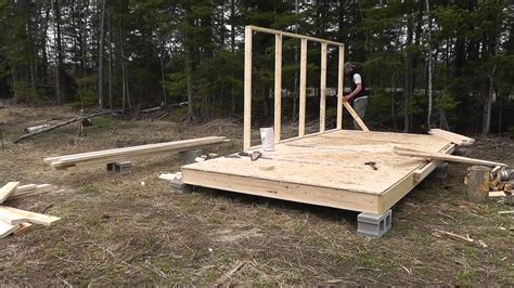wall tent platform build youtube