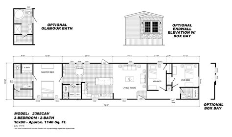 single wide trailer floor plans 3 bedroom