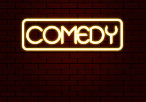 comedy pictures free comedy neon vector free vector stock