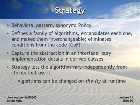 Pattern Of Behavior Synonym | java course 11 design patterns
