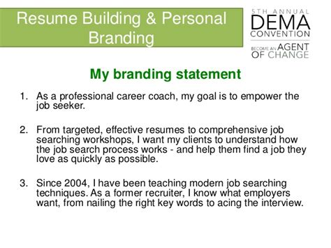 Personal Branding Statement Resume Resume Ideas Brand Statement Template