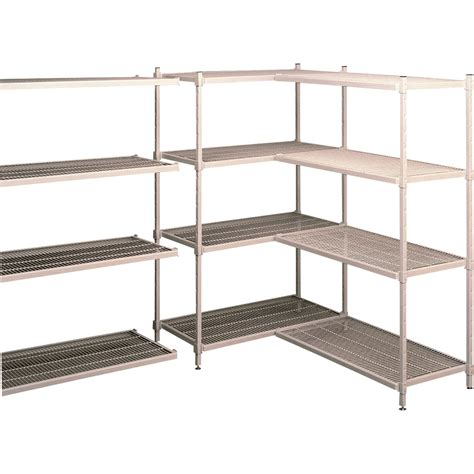 wire storage shelves tennsco wire shelving unit 4 shelf 48in w x 18in d x 75in h pearl gray model e e481875 4
