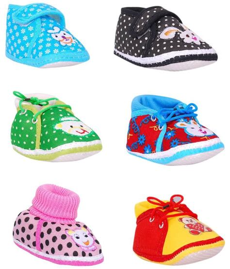 infants shoes brats n multicolour baby shoes pack of 6 price in