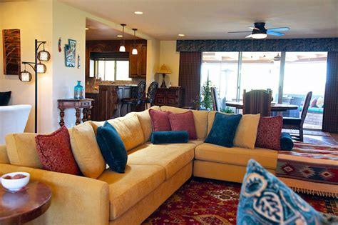 southwestern style southwestern style carefree home rustic living room