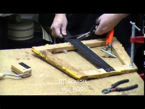 How To Upholster A Dining Room Chair how to web a dining room chair with elastbelt webbing