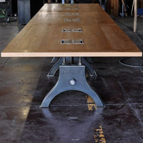 Industrial Boardroom Table Hure Conference Table Vintage Industrial Furniture