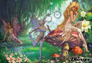 Angel Wall Murals enchanted fairy forest picture 82125674 blingee com