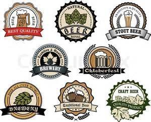 Bieretiketten Vorlage by Brauerei Und Bier Etiketten Vektorgrafik Colourbox