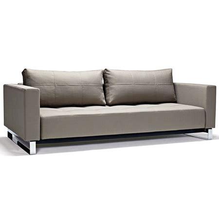 cassius deluxe excess sofa bed tufted medium gray