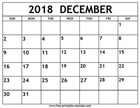 printable december calendar 2018 december 2018 calendar free printable calendar com