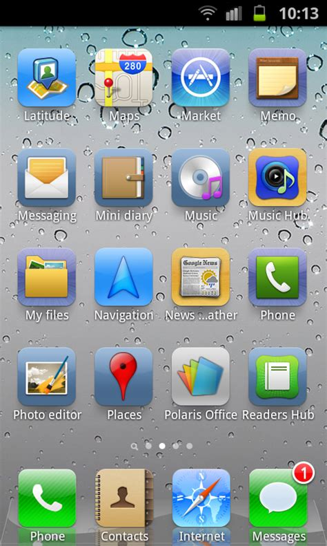 iphone desktop layout get ios5 looks theme layout on android with espier