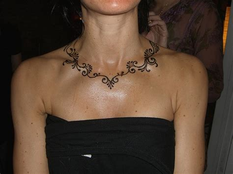 necklace tattoo designs 51 adorable neck henna tattoos