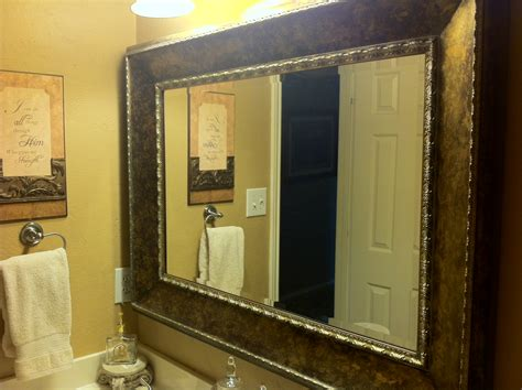 framing bathroom wall mirror image gallery large framed mirrors