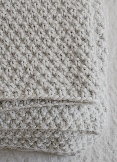 how to pearl knit seed stitch blanket by purl soho pattern available