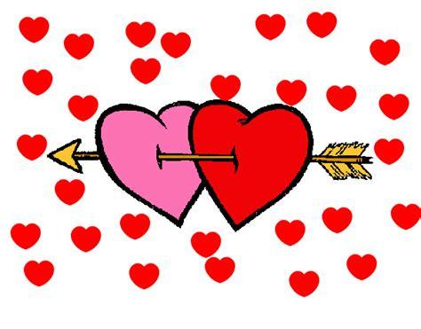 imagenes de corazones con flechas corazones flechados pintados imagui