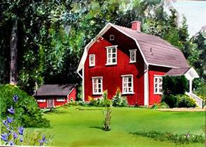Swedish Home Phil S Watercolors Commisions
