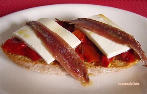 cocinar con pimientos la cocina de catina tosta de pimientos y anchoas