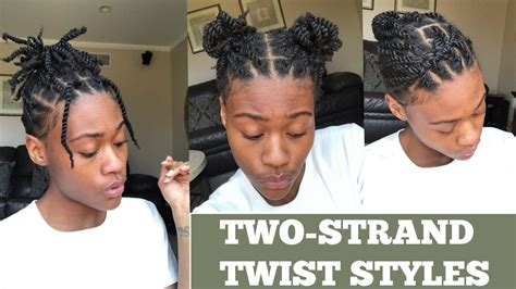ways to style twisting hair natural hair 5 ways to style two strand twist youtube
