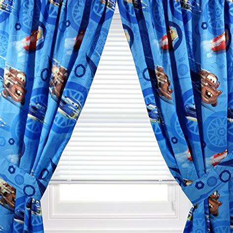 Disney Cars Window Panel Set Of 2 Panels Tie Backs 42