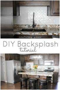 Diy Kitchen Tile Backsplash by Hawthorne And Main Diy Kitchen Backsplash