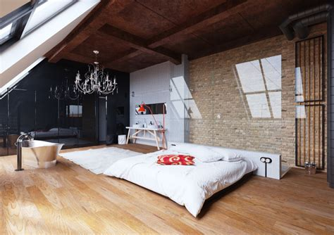 bedrooms  exposed brick walls