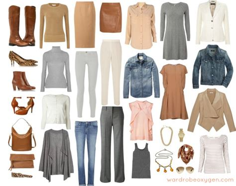 feminine capsule wardrobe of neutrals wardrobe oxygen