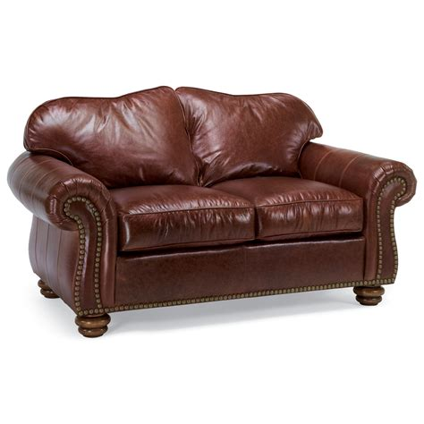 flexsteel bexley traditional seat with nailhead trim