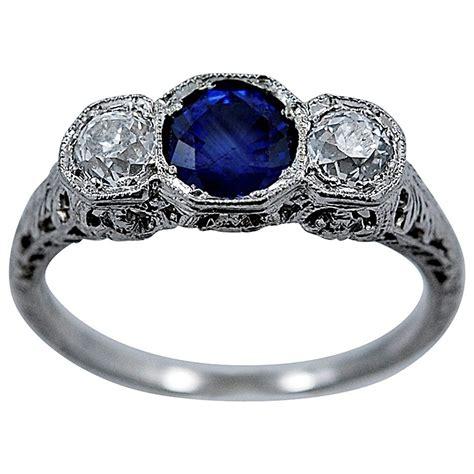 deco engagement rings sapphire delightful deco sapphire engagement ring at 1stdibs