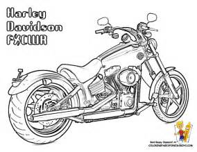 free harley davidson motocycle coloring pages harley davidson softail fxcwr coloring pages