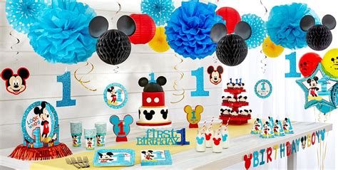 mickey mouse st birthday party supplies party city