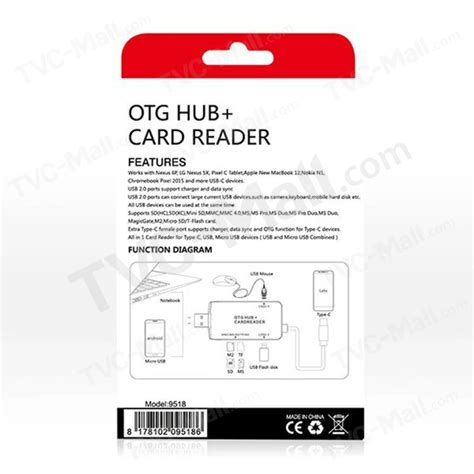 Otg Card Reader Model Kerang usb c tipo c usb 2 0 micro usb tf micro sd dakota sur sra lector de tarjetas otg