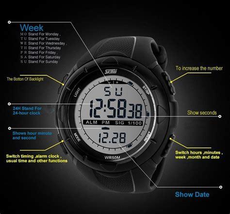 Digital Sport Intl fashion mens led digital stopwatch date waterproof rubber