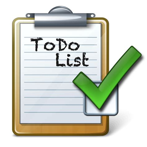 To Do Clipart checklist to do list clipart the cliparts