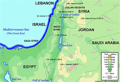 israel map today israel today topographical map major mountains