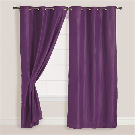 purple grommet curtains 2 panels pair faux suede metal grommet curtain drape set