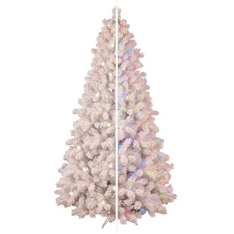 white 7 ft pre lit christmas tree clearance tis your season ge 7 5 ft pre lit white pine flocked artificial tree with color