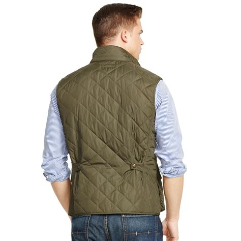 Polo Quilted Vest by Polo Ralph Quilted Vest In Green For