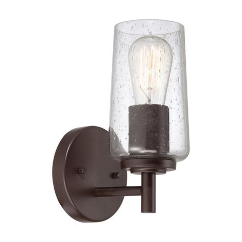 Western Bathroom Lighting Shop Quoizel Edison 1 Light 10 In Western Bronze Cylinder Vanity Light At Lowes