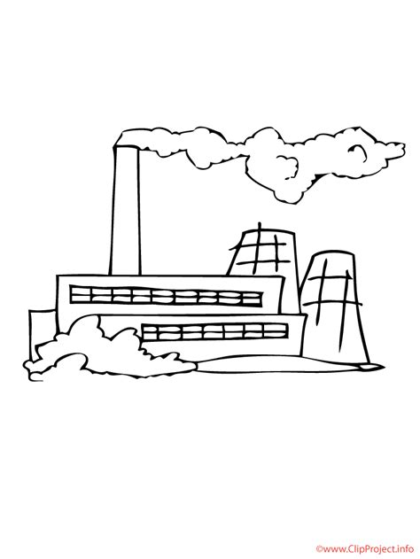 Factory Coloring Free Factory Coloring Page