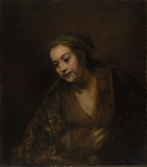 a portrait of the file rembrandt van rijn portrait of hendrickje stoffels 1650s jpg wikimedia commons