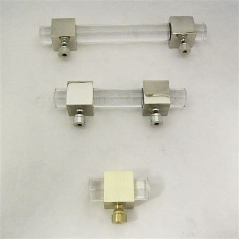 Lucite Drawer Pulls by Crown Lucite Appliance Handle Cube Lucite Cabinet Pull
